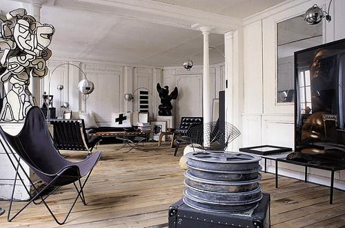 På rå grund. Frédéric Méchiche's loft i Marais,Paris