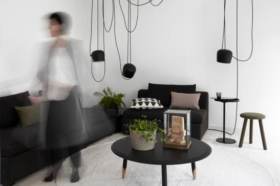 Soffa Vaxholm för Ikea- Matta PS kollektion för Ikea-  Sidobord kollektionen Stockholm Ikea- Eva Lilja Löwenhilem- Franks Gäster