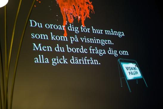 Citat - Sofie Sarenbrant releasefest hos Fantastic Frank