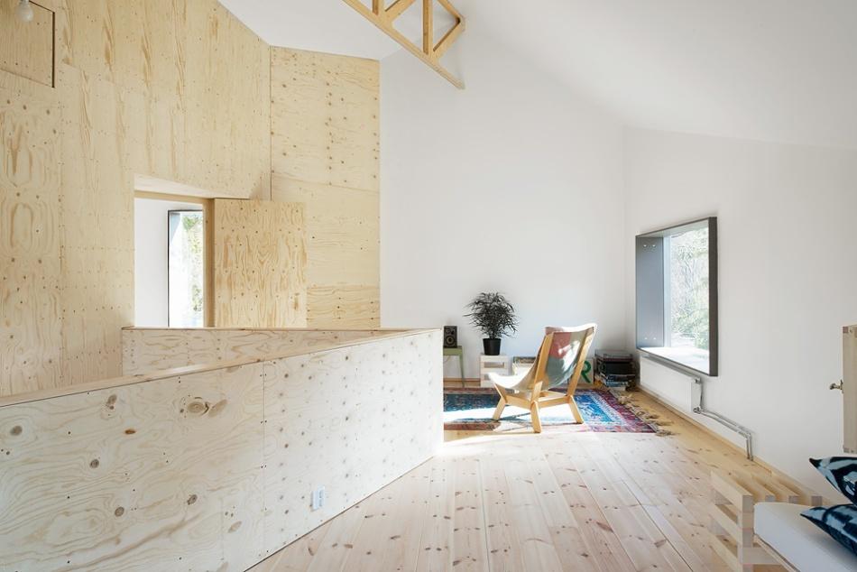 plywood arkitektur skandinavisk takhöjd