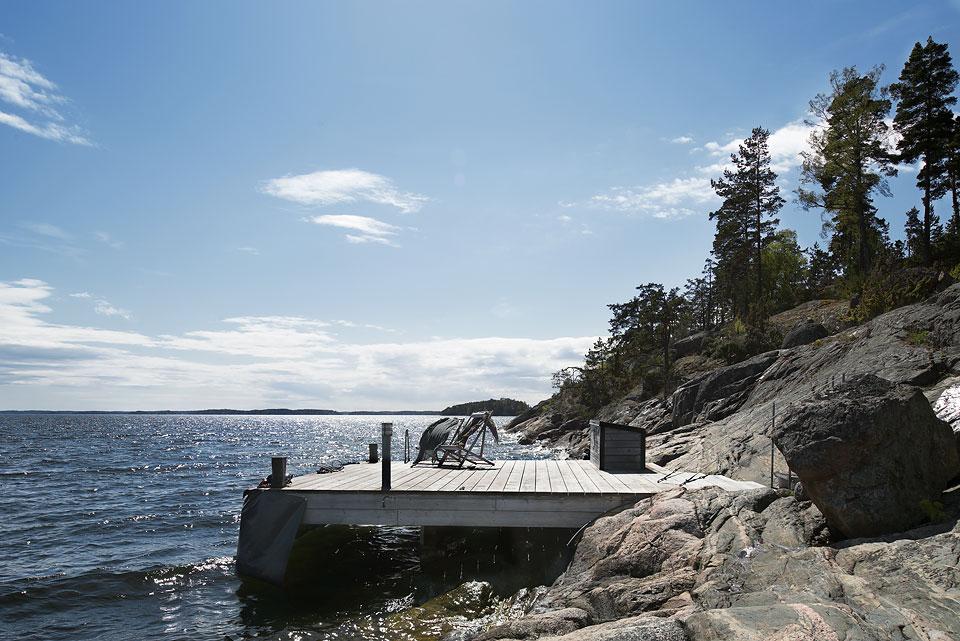 Egen brygga Timrarö  Mäklare Stockholm