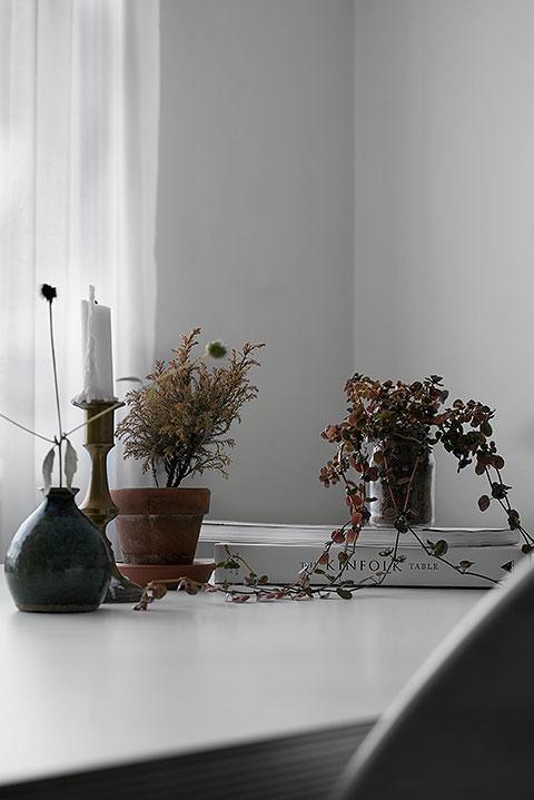blommor matbord