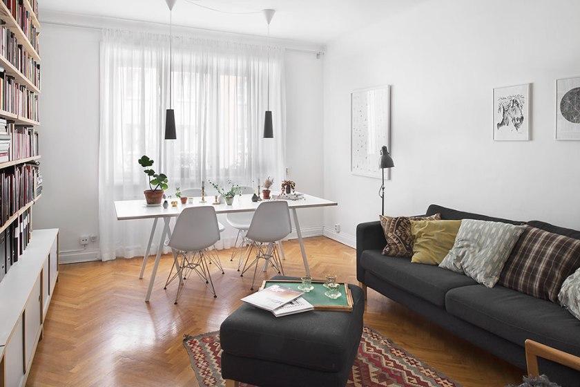 vardagsrum och matbord