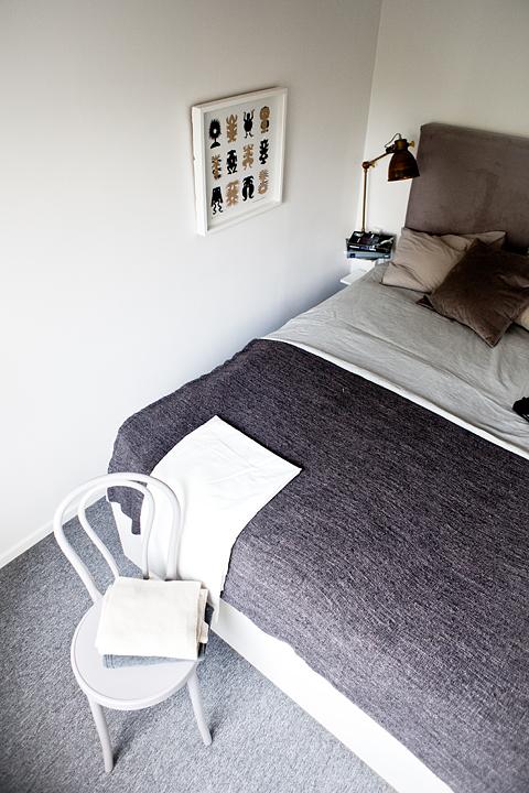 Sovrum stol säng