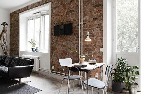 Matbord tegel vägg Långholmsgatan
