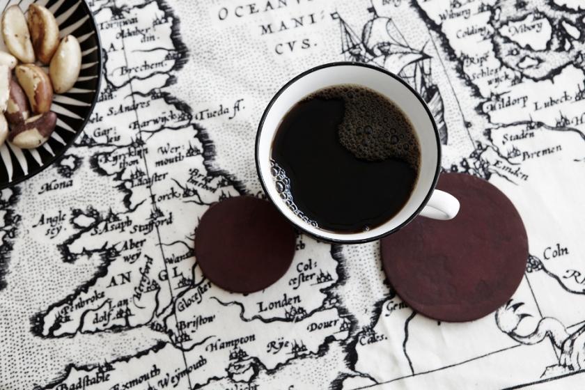 Kaffe världskarta