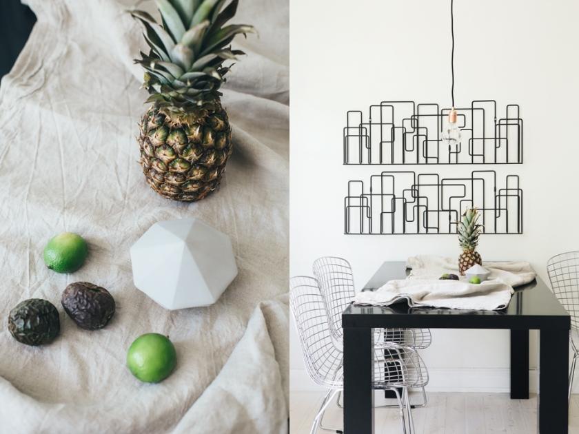 ananas matbord