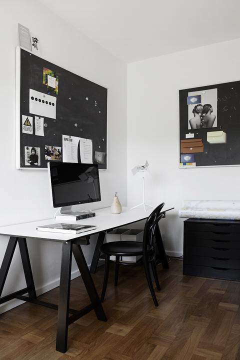 skrivbord arbetsrum