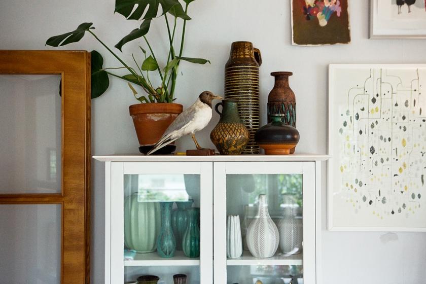 vitrin fågel vaser