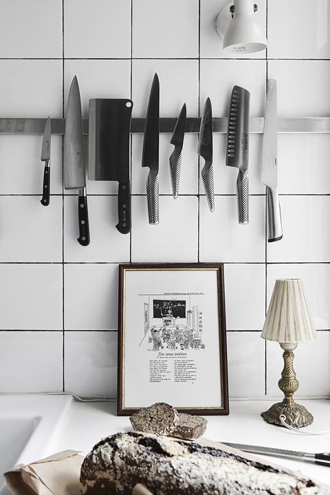Kök knivar bröd