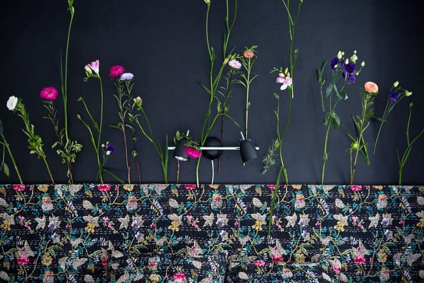 vägg dekoration blommor