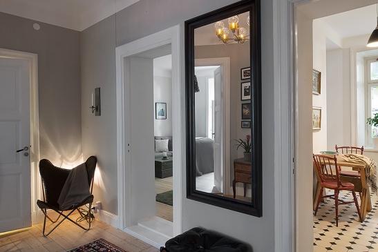 Hall spegel stol