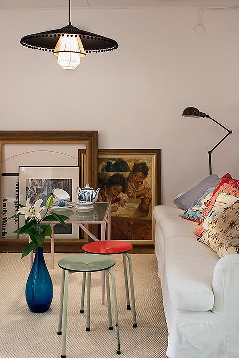 Konst design möbler soffa