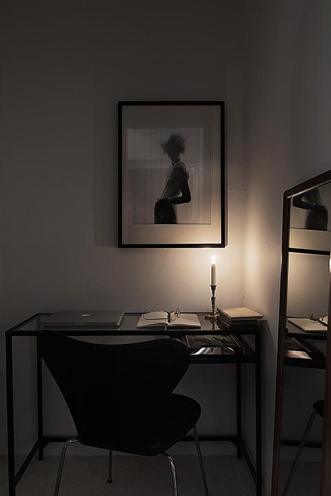 Konst ljus skrivbord