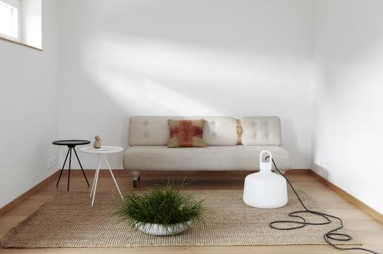 Soffa växt lampa matta soffbord Fiskarhedenvillan