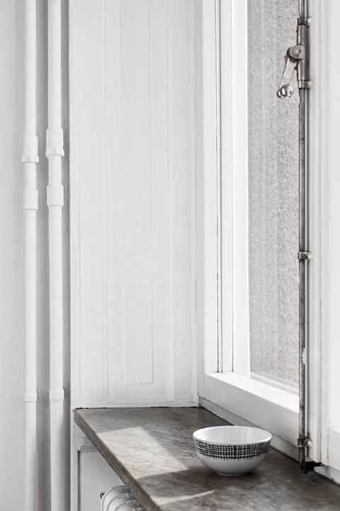 Fönsterbräda fönster skugga ljus