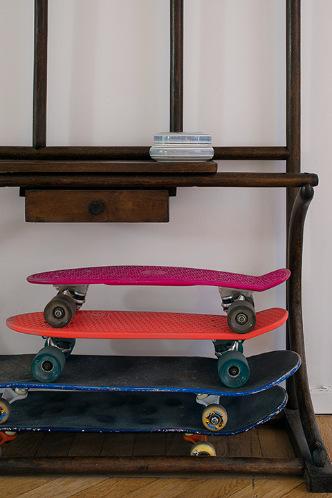 Skateboard hylla