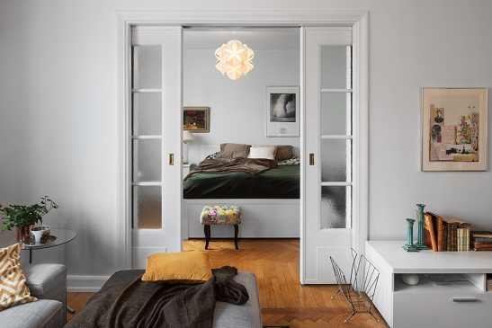 Sovrum skjutdörr sängkläder