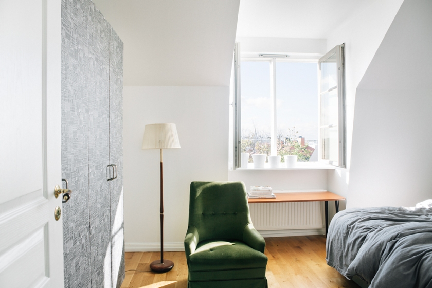 Lampa fönster chaiselongue