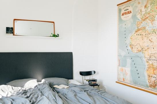 Säng världskarta sängkläder