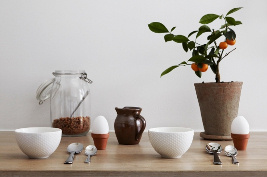 Kök köksbord växt frukost