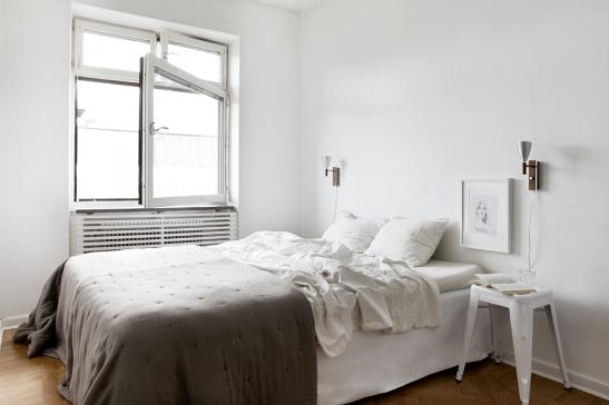 Sovrum fönster vitt