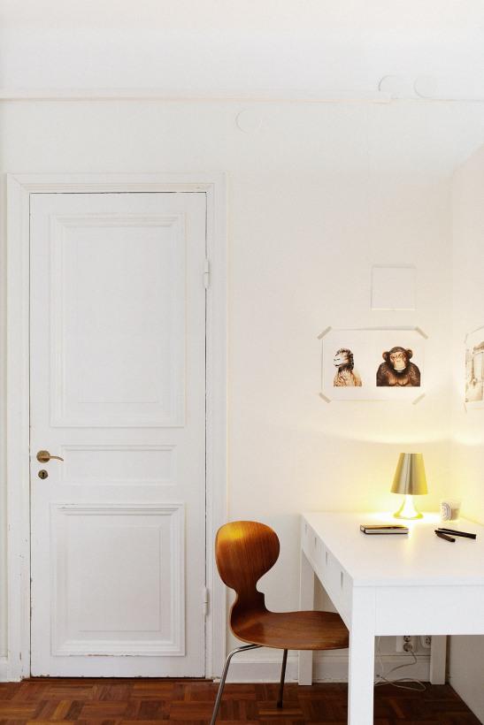 Skrivbord dörr lampa