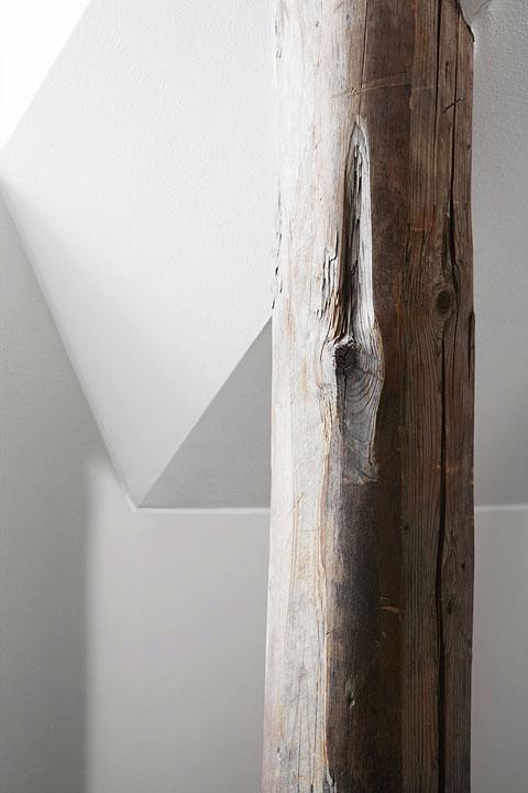 Träbjälkar loft
