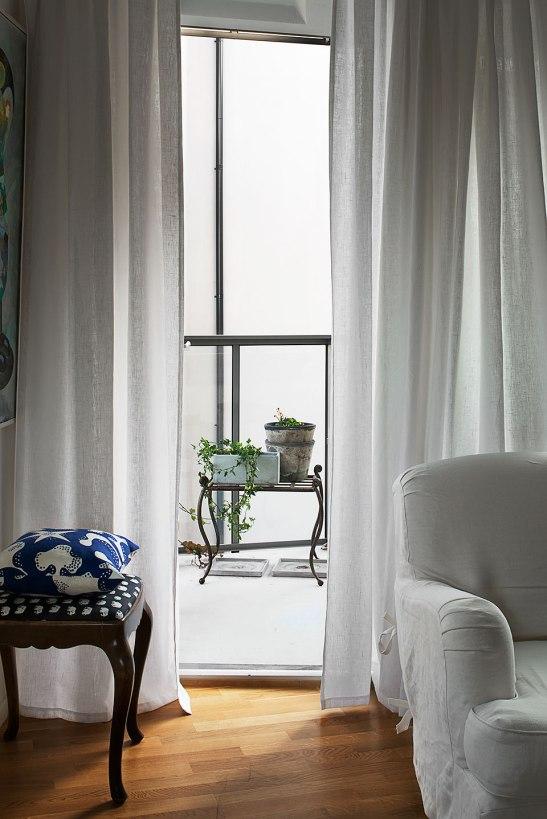 Fönster balkong gardiner