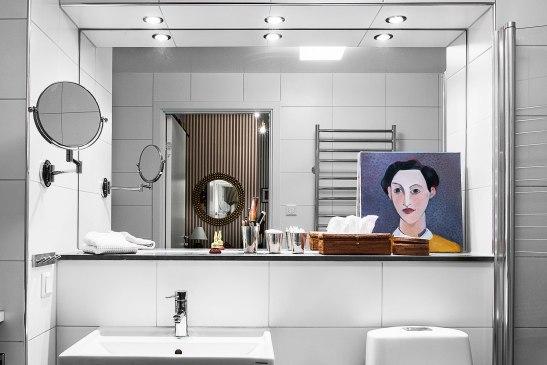 Konst badrum