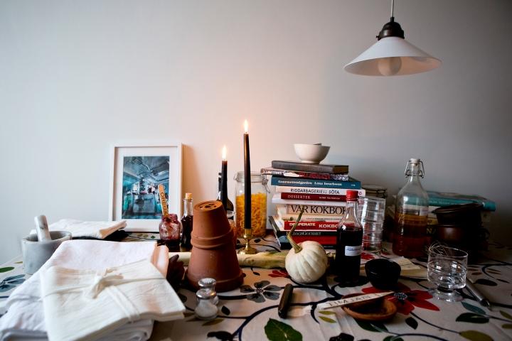 Kök köksbord lampa konst