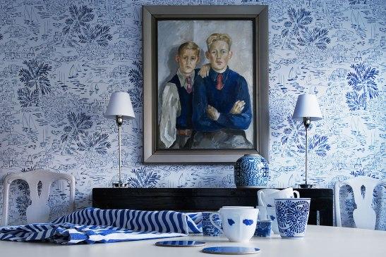 Tapet konst vintage porslin