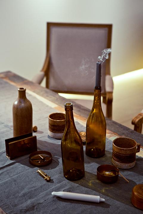 flaskor matbord Husbåt
