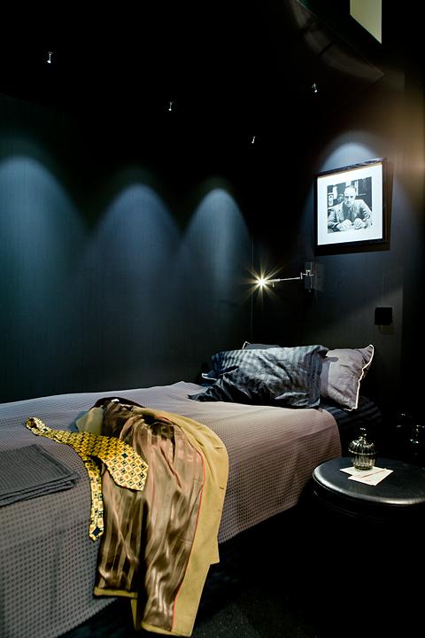 Husbåt sängkammare