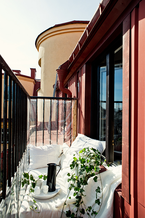 Balkong fåtölj utsikt