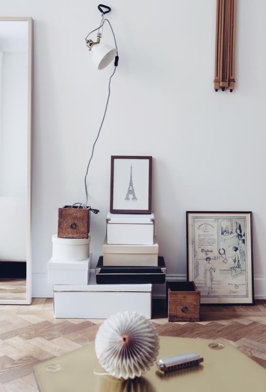 Lådor Paris ramar vintage lampa