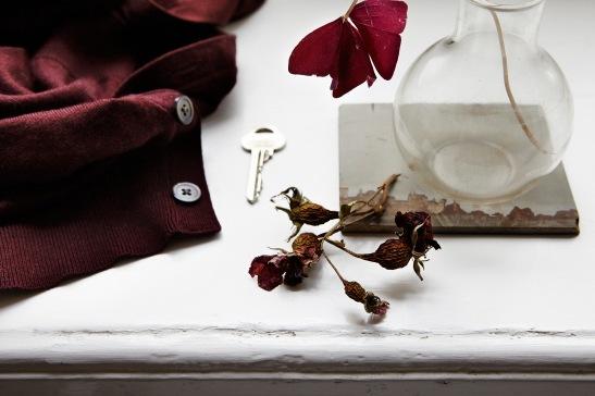 Bord nycklar blomma vas