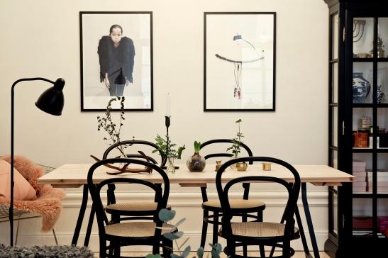 köksbord konst foto stolar thonet