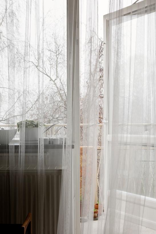 Balkong gardiner utsikt