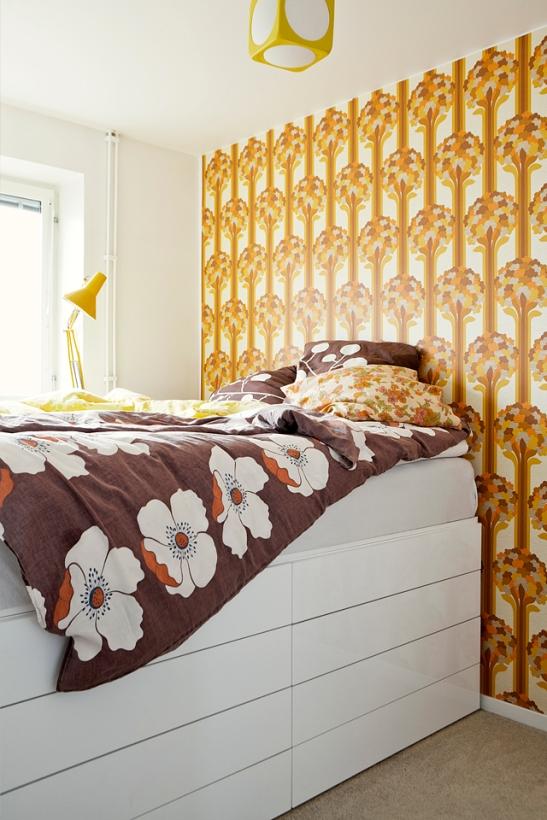 Sovrum blommor 60-tal
