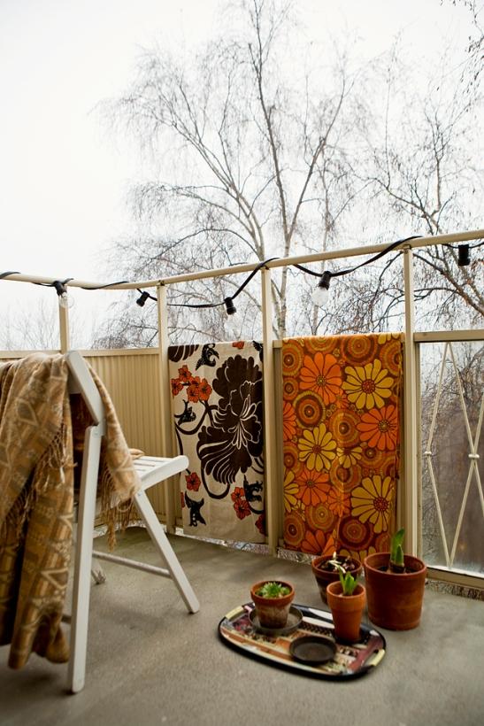 Balkong blommor lampa