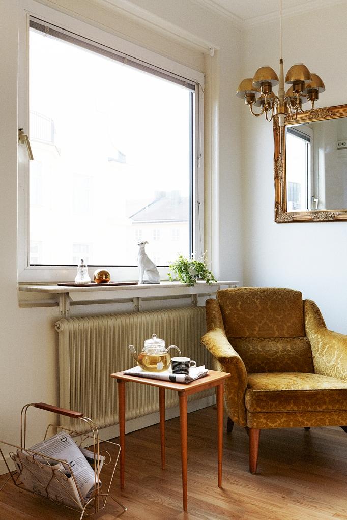 Fåtölj Vintage fönster läshörna