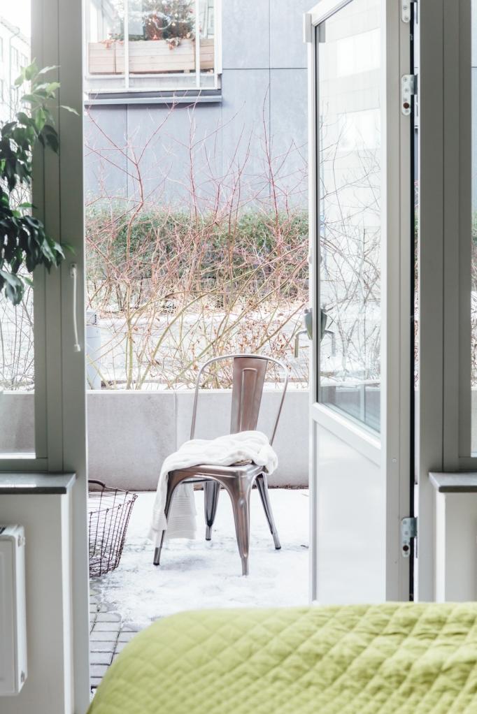 Terrass industristil stol