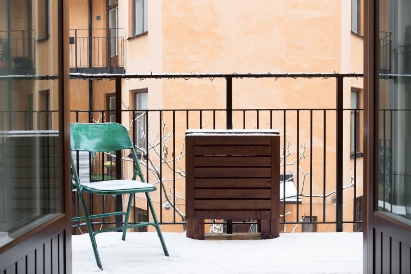 Balkong grön stol