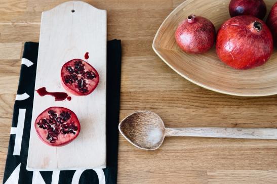 Bord granatäpple trä kök