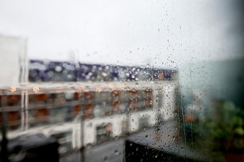 utsikt regn hammarby sjöstad