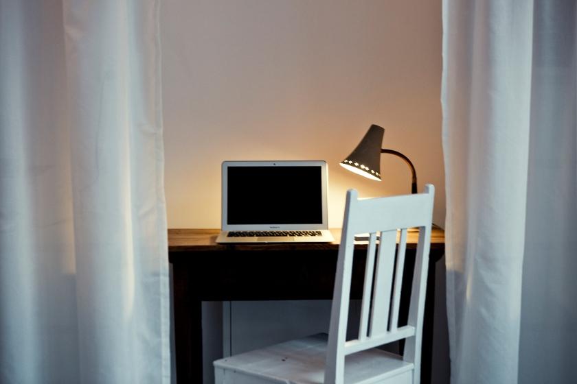Skrivbord gardin stol
