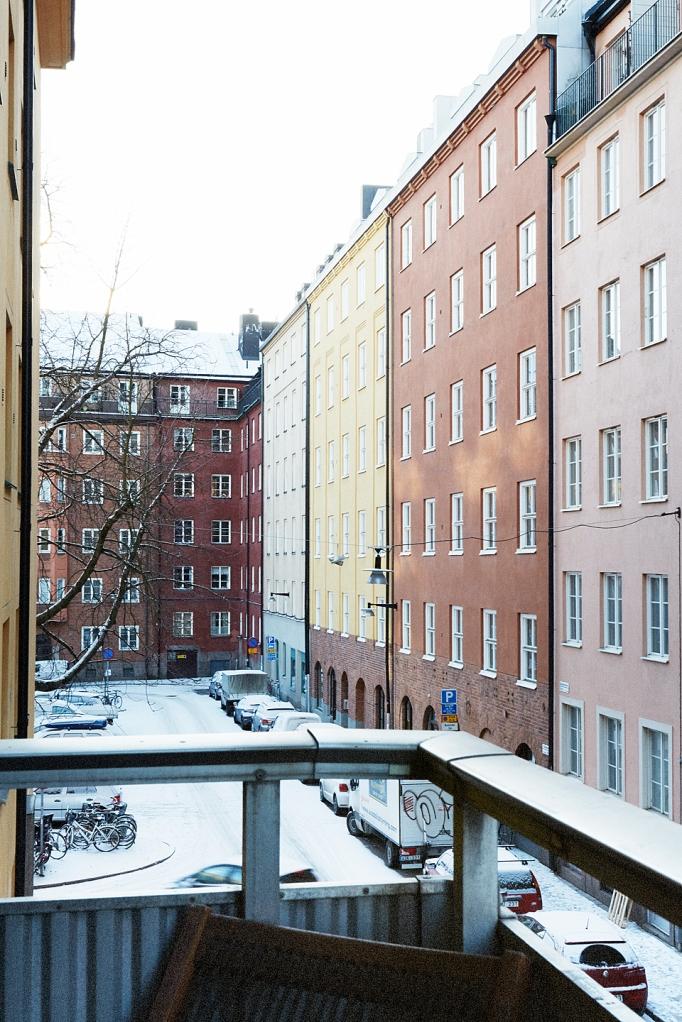 Utsikt balkong Södermalm