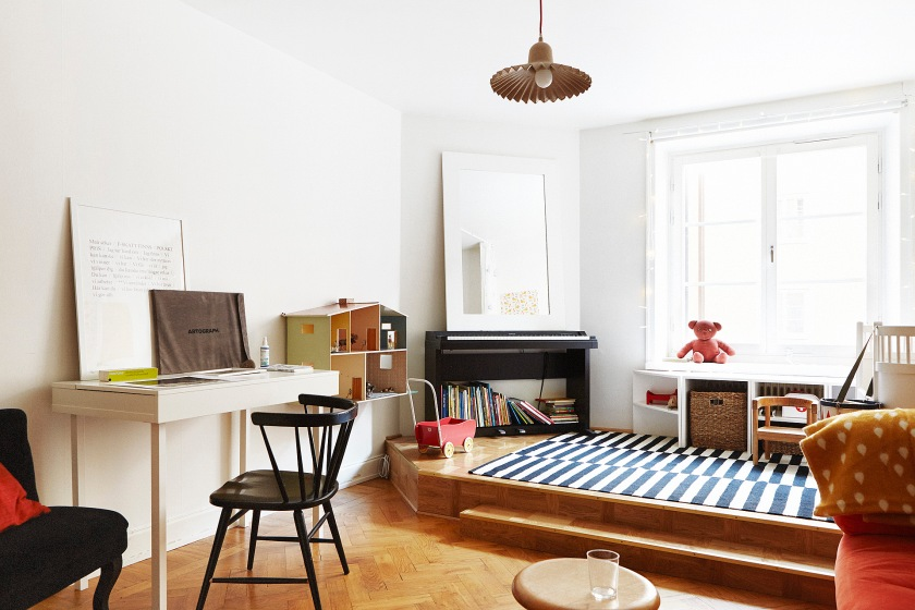 Vardagsrum lampa stol