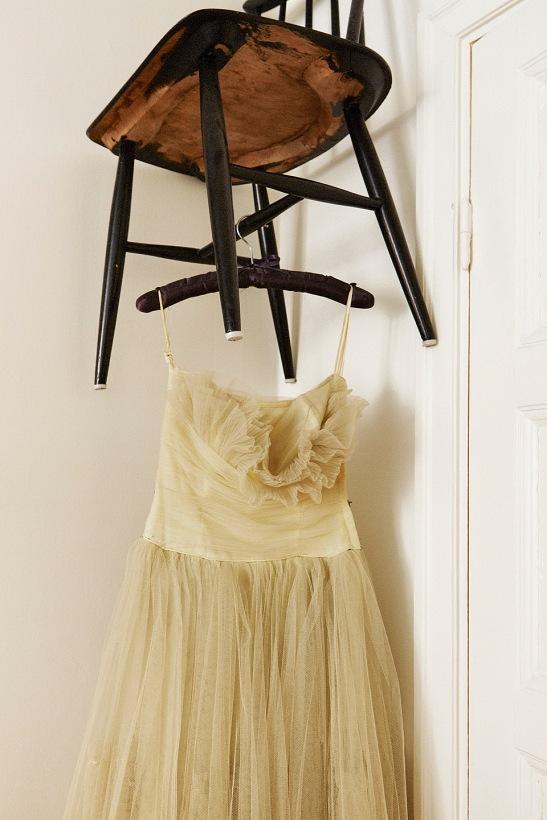 Stol klänning deko